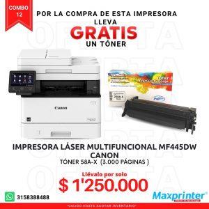 combo 12 impresora laser multifuncional y toner colombia