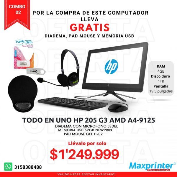 combo 02 computador todo en uno pad mouse diadema memoria usb descuentos y ventas en colombia bucaramanga