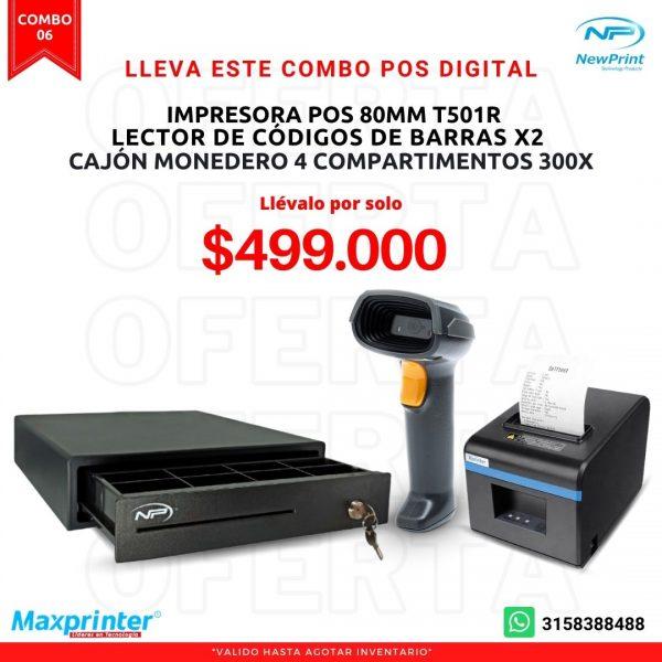 combo 06 sistema pos cajon monedero impresora pos y lector de codigo de barras ofertas colombia