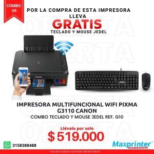 combo 09 impresora canon con mouse y teclado jedel colombia